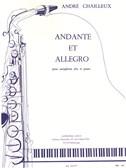 Andante Et Allegro Pour Saxophone Alto Et Piano