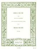 Henri Büsser: Piece In D (Horn/Piano)