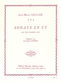Jean-Marie Leclair: Sonata in C (2 Saxophones)