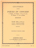François Couperin: Pièces En Concert (Cello/String Quartet) (Score/Parts) (Bazelaire)