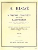 Hyacinthe Klosé: Méthode Complète Pour Tous Les Saxophones Vol