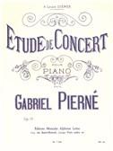 Gabriel Pierné: �tude De Concert, Op. 13 (Piano). Sheet Music