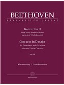 L. Van Beethoven: Piano Concerto In D Based On The Violin Concerto Op.61 (Piano Reduction)