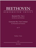 Concerto No.3 In C Minor Op.37 For Piano: Full Score