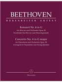 Ludwig Van Beethoven: Sextet Based On The Piano Concerto No.4 In G Op.58 (Score And Parts)