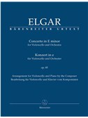 Edward Elgar: Concerto In E Minor For Cello And Orchestra Op.85 - Piano Reduction (Barenreiter Urtext). Sheet Music