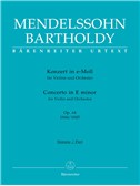 Felix Mendelssohn: Violin Concerto In E Minor Op.64 - First Version 1844/Second Version 1845 (Barenreiter Urtext). Sheet Music