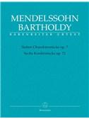 Felix Mendelssohn Bartholdy: Sieben Charakterstücke Op. 7 / Sechs Kinderstücke Op. 72