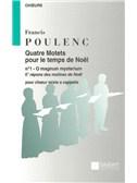 Francis Poulenc: O Magnum Mysterium (SATB)