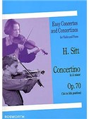 Hans Sitt: Concertino In A Minor For Violin And Piano Op.70