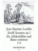 Jean-Baptiste Loeillet: 12 Sonatas Op. 1 For Treble Recorder And Basso Continuo (Vol 3, No 7-9)