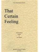 George Gershwin: That Certain Feeling (String Quartet) - Parts