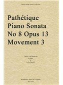 Ludwig Van Beethoven: Pathétique Piano Sonata No. 8 Op. 13, Movement 3 (Arr. Carlo Martelli ) - Score. String Quartet Sheet Music