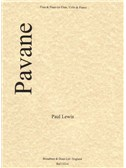 Paul Lewis: Pavane - Flute/Piano (or Flute, Cello and Piano)