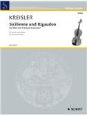 Kreisler: Sicilienne and Rigaudon