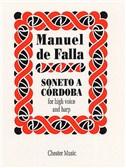 Manuel De Falla: Soneto A Cordoba