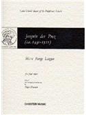 Des Prez, Josquin : Livres de partitions de musique