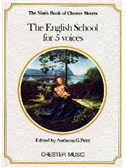 The Chester Book Of Motets Vol. 9: The English School For 5 Voices