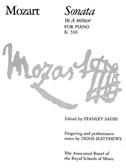 W.A. Mozart: Sonata In A Minor K.310