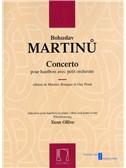 Bohuslav Martinu: Concerto Pour Hautbois Avec Petite Orchestre (Oboe and Piano)