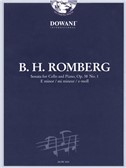 Bernhard Heinrich Romberg: Cello Sonata In E Minor Op.38 No.1 (Dowani 3 Tempi Play Along - Book/CD)