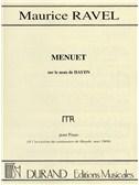 Maurice Ravel: Menuet Sur Le Nom De Haydn (Piano Solo)