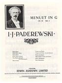 Ignacy Paderewski: Menuet In G Op.14 No.1