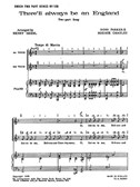 Ross Parker And Hughie Charles: There'll Always Be An England (2-Part And Piano)