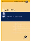 Johannes Brahms: Symphony No.3 Op.90 In F (Eulenburg Score/CD). Orchestra Sheet Music, CD