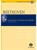 Ludwig Van Beethoven: Concerto No.3 For Piano And Orchestra In C Minor Op.37 (Eulenburg Score/CD)