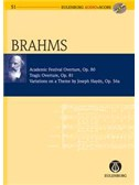 Johannes Brahms: Academic Festival Overture, Tragic Overture, Variations On A Theme By Joseph Haydn, Op.80, 81, 56a (Stu.... Orchestra Sheet Music, CD