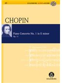 Frédéric Chopin: Piano Concerto No.1 In E Minor Op.11 (Eulenburg Score/CD). Sheet Music, CD
