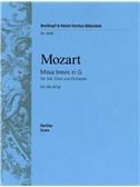Wolfgang Amadeus Mozart: Missa Brevis In G KV 49 (47d)
