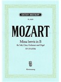 Wolfgang Amadeus Mozart: Missa Brevis In B KV 275