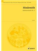 Paul Hindemith: Kammermusik No.3 Op.36 No.2 (Study Score)