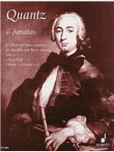 Johann Quantz: Six Flute Sonatas Vol. 1. Sheet Music