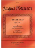 Jacques Hotteterre 'le Romain': Suite in F for Treble Recorder and Continuo