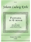 Fantasia In G Minor For Oboe And Organ/Piano (opt. Bassoon/Cello). Sheet Music
