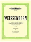 Julius Weissenborn: Studies For Bassoon Op.8 - Volume 2