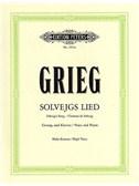 Edvard Grieg: Solvejgs Lied (High Voice/Piano)