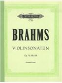 Johannes Brahms: Violin Sonatas (Complete) - Violin/Piano Book