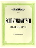 Dmitri Shostakovich: Three Duets For 2 Violins And Piano