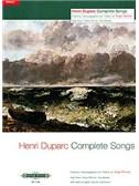 Henri Duparc: Complete Songs - High Voice (Edition Peters Urtext)