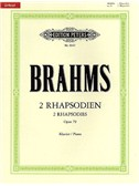 Johannes Brahms: Two Rhapsodies Op.79 (Edition Peters Urtext)