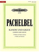 Johann Pachelbel: Canon And Gigue - Score And Parts (Edition Peters Urtext)