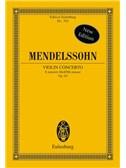 Felix Mendelssohn: Violin Concerto In E Minor Op.64 (Eulenburg Miniature Score)