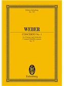 Carl Maria Von Weber: Concerto No.1 Op.73 For Clarinet And Orchestra In F Minor (Eulenburg Edition)
