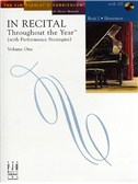 In Recital - Throughout The Year (With Performance Strategies): Volume One - Book 2