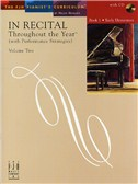 In Recital - Throughout The Year (With Performance Strategies): Volume Two - Book 1