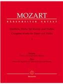 W.A. Mozart: Complete Works For Violin And Piano - Volume 1. Sheet Music
